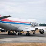 Boeing 747-8F прилетает в Россию